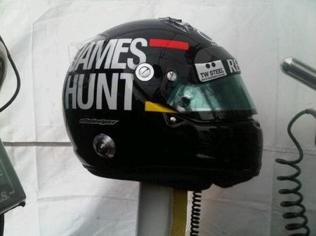 James Hunt, el casco de Kimi Raikkonen