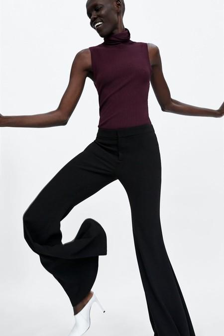 Pantalones Campana Negros