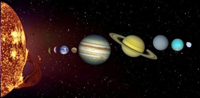 Reduciendo la escala del Sistema Solar para entenderlo mejor: la Tierra mide 2 mm, el Sol 20 cm...