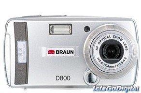 Braun D800, cámara de gama baja