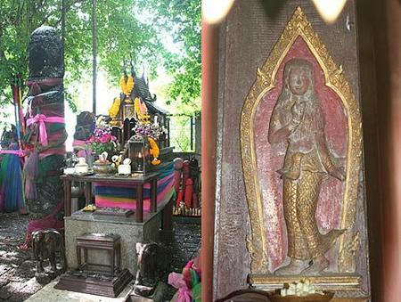 Tailandia: santuario Chao Mae de la diosa Tuptim