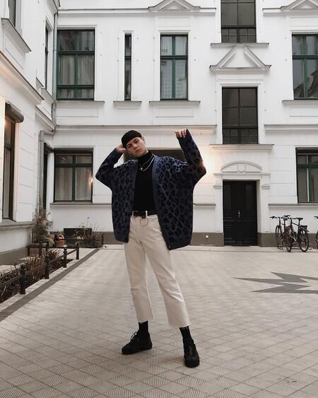 El Mejor Street Style De La Semana Sueter Cuello Alto Negro 09