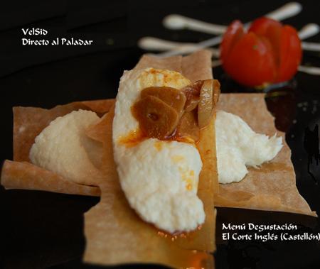 Restaurante El Corte Inglés, menú degustación junio 07