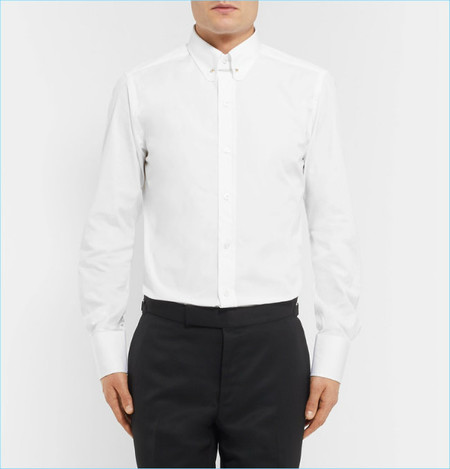 Tom Ford Icon Slim Fit Rounded Bar Collar Cotton Poplin Shirt