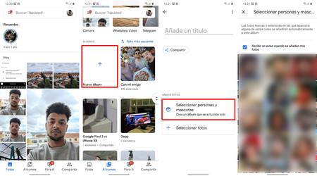 Caras Google Fotos