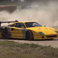 Hoy, en 'Gente que le sobra el dinero': derrapando con un Ferrari F40 en un circuito de tierra