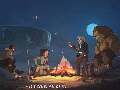 Esto es lo que sucedería si el Studio Ghibli hiciera una película de Star Wars