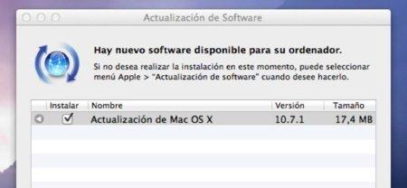 Apple lanza la primera actualización de OS X Lion