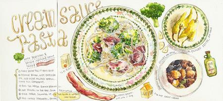 Maravillosas recetas ilustradas por Heegyum Kim