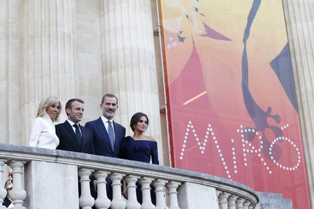 Doña Letizia y Brigitte Macron, un duelo de estilo muy esperado