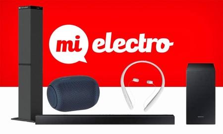 Sonido LG y Samsung en MiElectro: barras y torres de sonido, altavoces portables y auriculares a los mejores precios