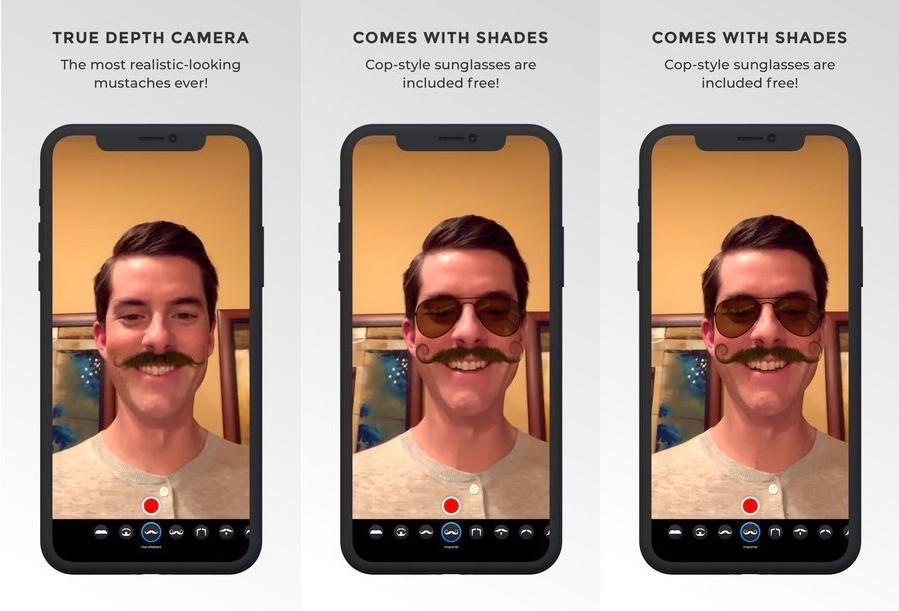 Mustache AR es una divertídisima app para ponerte bigotes imposibles en tu cara