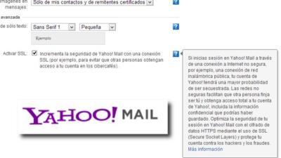 Yahoo incorpora la opción de usar HTTPS en su servicio de correo