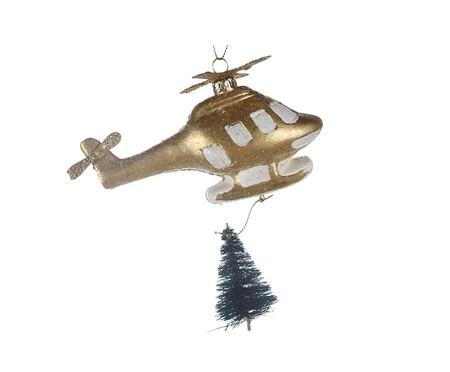 Adorno navidad helicóptero