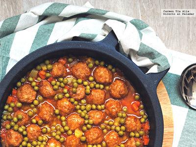 Cómo preparar albóndigas en salsa de verduras