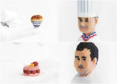 Las simpáticas miniaturas en 3D de chefs internacionales y sus platos más emblemáticos