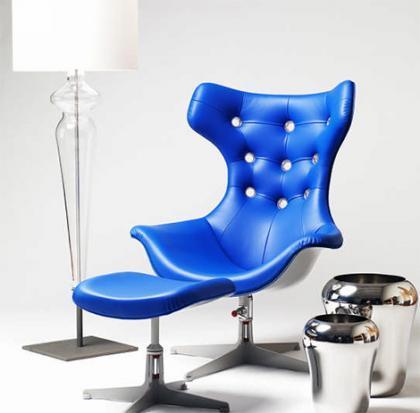 Evitavonni Blue Presidente, diseños en azul metálico