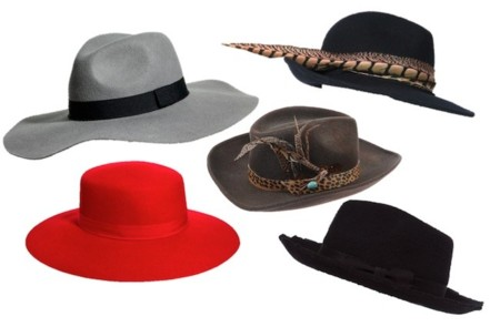 sombreros rígidos