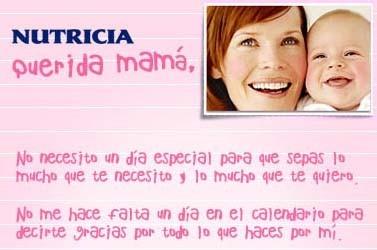 Carta con la foto del bebé para regalar el Día de la Madre