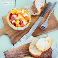 Ensalada de melón y jamón serrano. Receta para el verano