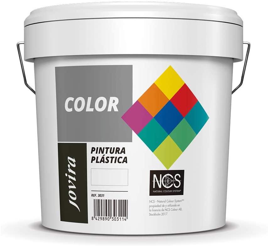 PINTURA MATE CUBRIENTE | 24 COLORES |, Pintura interior-exterior con excelente poder cubriente (5 KG, VERDE NORTE)