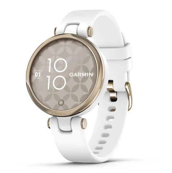 Garmin Lily Sport Reloj Smartwatch Blanco/Dorado con Correa Blanca