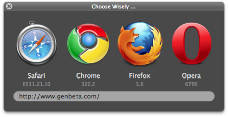 Selecciona tu navegador en Mac OS X con Choose Wisely