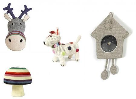 Originales complementos de crochet para decorar la habitación infantil