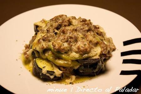 Pastel de carne picada y verduras. Receta