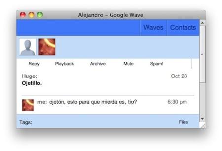 Waver, un cliente multiplataforma para Google Wave