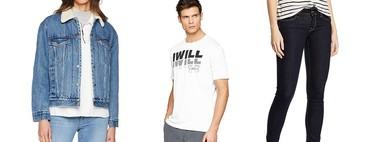 Chollos en tallas sueltas de pantalones, camisetas y chaquetas de marcas como Levi's, Pepe Jeans y Adidas en Amazon