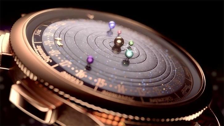 [Vídeo] El Sistema Solar dentro de tu reloj (y en tiempo real)