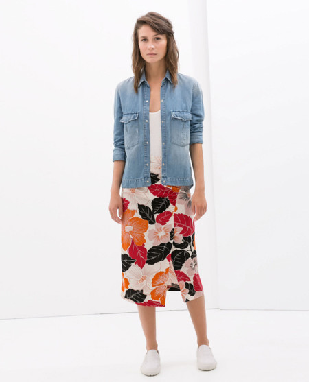 Zara falda flores