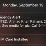 Mensajes de emergencia, alertando a la población de riesgos inminentes mediante sus teléfonos