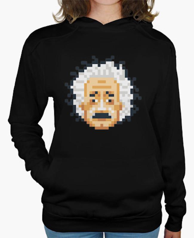 Sudadera Einstein pixelado