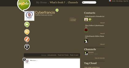 Poodz, nuevo sistema de microblogging completo que nos llega desde Francia