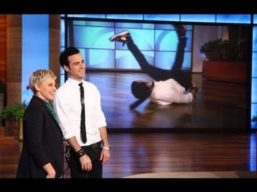 Pedazo de bailables que se marca Justin Theroux
