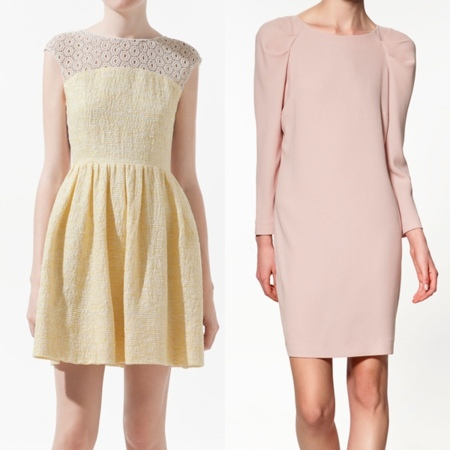 vestidos cortos zara