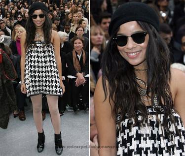 El look rockero de Zoe Kravitz