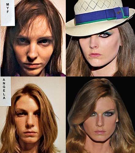 Lo que el maquillaje y la peluquería hacen por las modelos