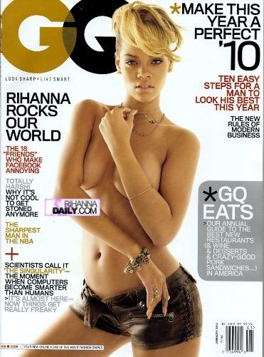 Rihanna hace topless para GQ Magazine Enero 2010