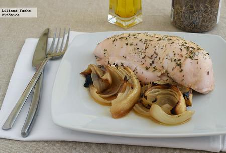 Pollo asado al horno. Receta saludable