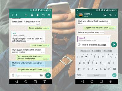 Más mejoras en WhatsApp: podremos citar o responder a comentarios específicos