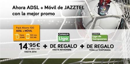Jazztel te financia un smart TV si quieres y regala Canal+ Liga y Liga de Campeones al contratar su ADSL