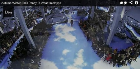 "Vuelve a ver el vídeo de Dior Ready-to-Wear A/W 2013-2014 con ojo ""time-lapse"""