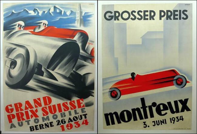 Póster Original Gran Prix 1934