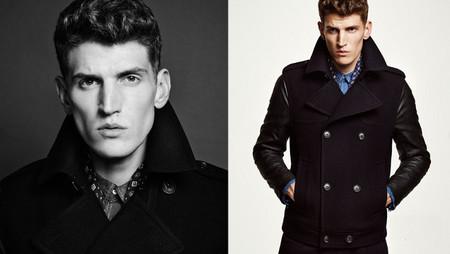 H&M otoño 2013 abrigo combinado