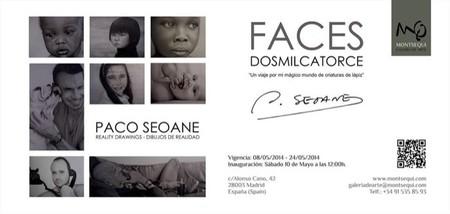 Arranca la exposición Faces de Paco Seoane para disfrutar de sus criaturas de lápiz