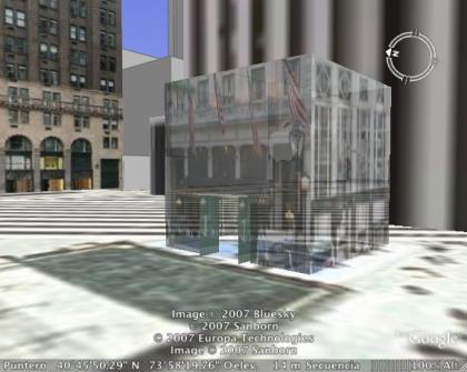 Tiendas Apple Store en 3d en Google Earth