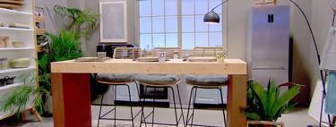 Lo mejor de Masters de la reforma es sin duda el contenedor de la prueba final que ayer se transformó la cocina